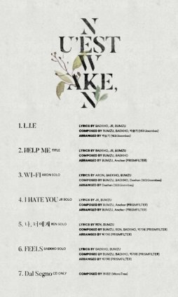 NU'EST_W_Wake,n_digital_album_tracklist